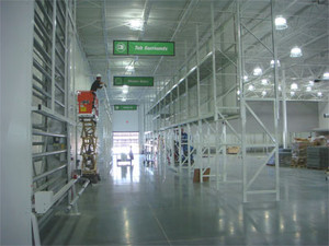 Services include retail fixture installation