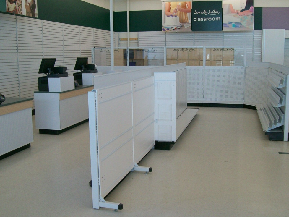 Retail store remodels and retail resets